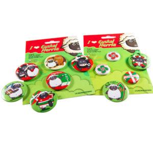 Chapas, badges del país vasco